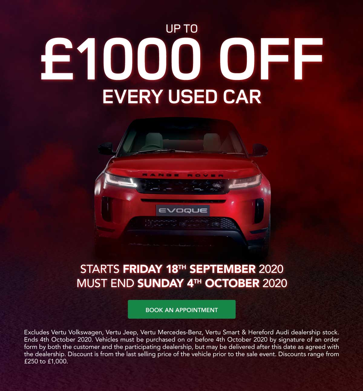 Land Rover Sale Event 110920