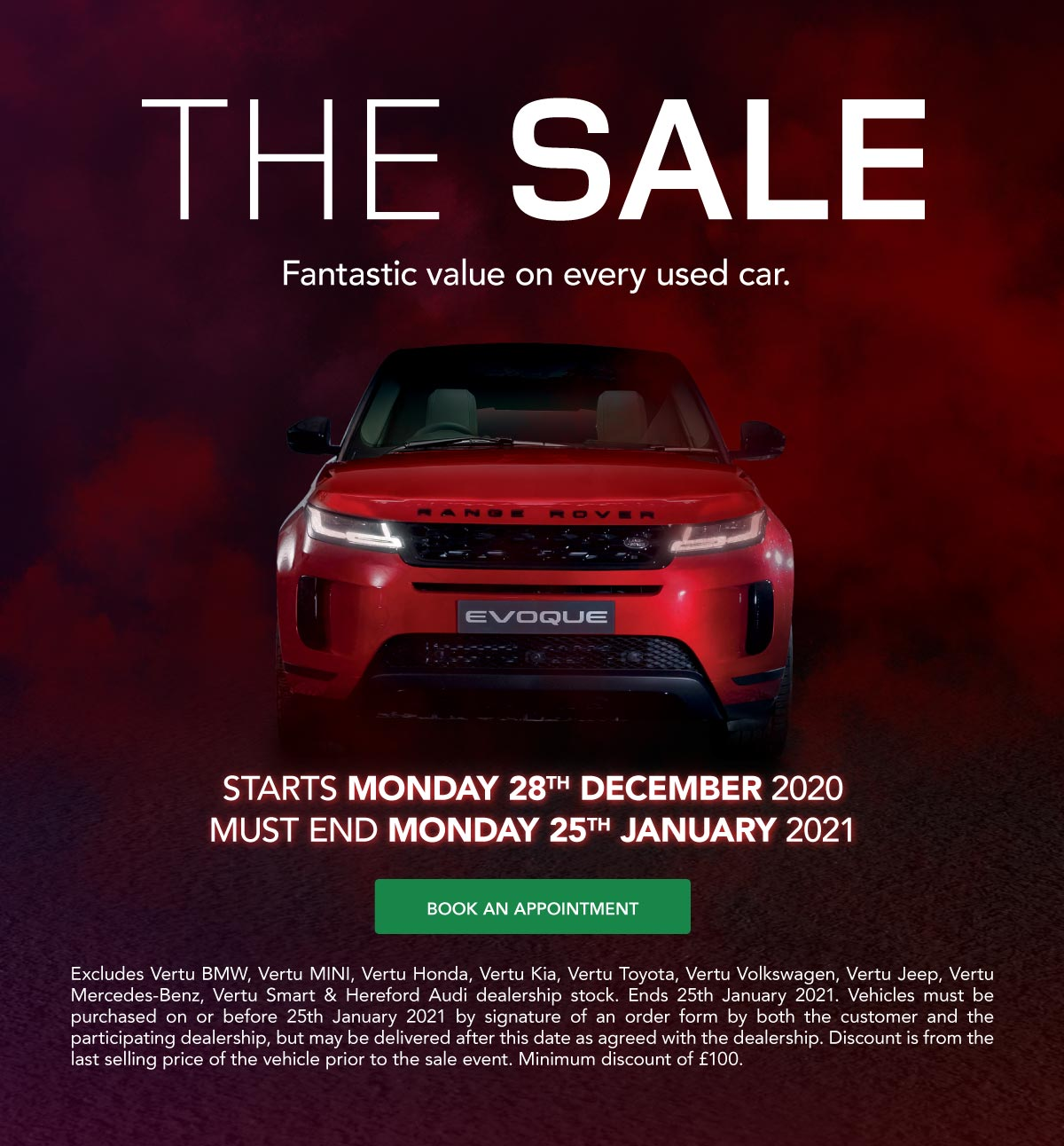 The Sale Event January 2021 Land Rover